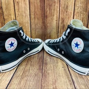 Converse Shoes - Leather Converse Chuck Taylor All Star High Tops